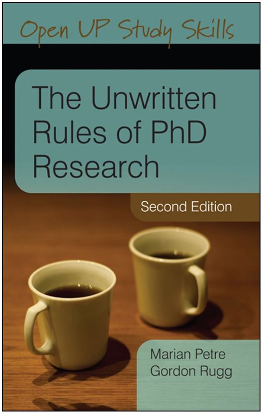 Currently reading: The Unwritten Rules of PhD Research, Second Edition